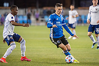 SAN JOSE, CA - MAY 01: Paul Marie #3 of the San Jose Earthquakes controls the ball during a game between San Jose Earthquakes and D.C. United at PayPal Park on May 01, 2021 in San Jose, California.