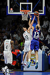 Real Madrid´s Jaycee Carroll and Anadolu Efes´s Nenad Krstic during 2014-15 Euroleague Basketball Playoffs second match between Real Madrid and Anadolu Efes at Palacio de los Deportes stadium in Madrid, Spain. April 17, 2015. (ALTERPHOTOS/Luis Fernandez)