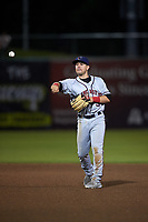 Lancaster JetHawks second baseman Max George (3) during a California League game against the Inland Empire 66ers at San Manuel Stadium on May 18, 2018 in San Bernardino, California. Lancaster defeated Inland Empire 5-3. (Zachary Lucy/Four Seam Images)