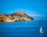 Italien, Toskana, Insel Elba: Blick auf Portoferraio  | Italy, Tuscany, island Elba: view at Portoferraio
