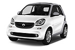 2017 Smart Fortwo Passion 2 Door convertible Angular Front stock photos of front three quarter view