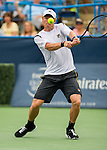 Dmitry Tursunov (RUS) falls to John Isner (USA) 6-7(7), 6-3, 6-4 in the Semifinals of the Citi Open in Washington, DC on August 3, 2013.