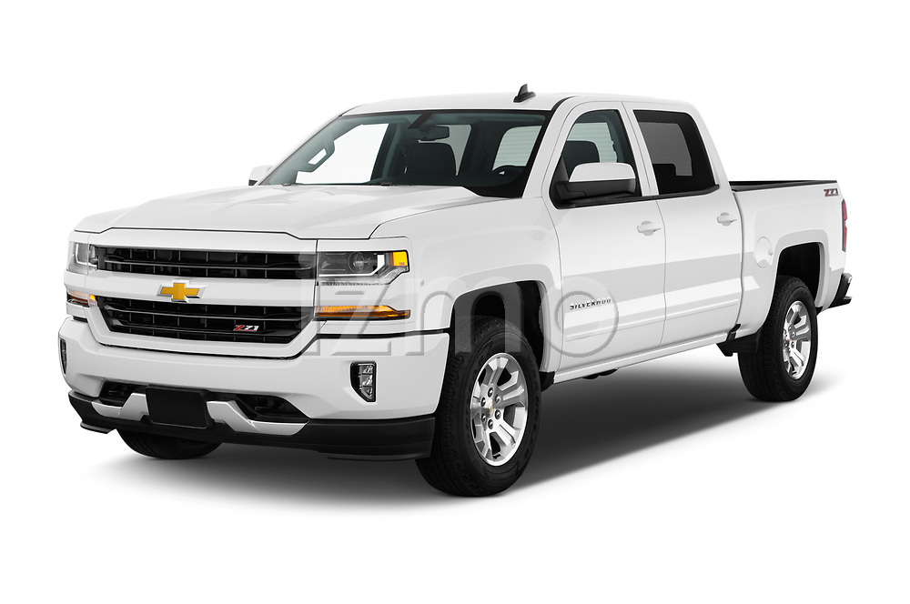 2018 Chevrolet Silverado-1500 LT-Z71-Crew 4 Door Pick-up Angular Front stock photos of front three quarter view