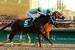 LOUISVILLE, KY -NOV 25: Road to Victory (Julien Leparoux) wins the 74th running of the Golden Rod Stakes at Churchill Downs, Louisville, Kentucky. Owner John C. Oxley and Gary Barber, trainer Mark E. Casse. By Quality Road x Favoritism, by Tiznow. (Photo by Mary M. Meek/Eclipse Sportswire/Getty Images)