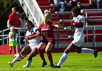 Georgia Bulldogs vs Arkansas Razorback Women's Soccer -   Georgia Kayla Bruster (25) kicks the ball as Anna Podojil (16) attempts to get ball  during 1st half at Razorback Field, Fayetteville, AR on Sunday, October 27, 2019 - Special to NWA Democrat Gazette David Beach
