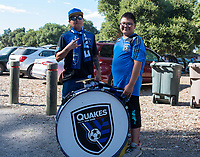 STANFORD, CA - JUNE 29: Fans tailgate during a Major League Soccer (MLS) match between the San Jose Earthquakes and the LA Galaxy on June 29, 2019 at Stanford Stadium in Stanford, California.