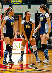 Perryville players celebrate a point during the Perryville High School versus Dunbar High School match in the Semifinals of the Maryland State Volleyball 1A Championship at Ritchie Coliseum in College Park, Maryland on November 12, 2012. Perryville defeated Dunbar 25-21, 25-7 and 25-22 in straights sets to earn a rematch with Smithsburg for the State 1A Title.
