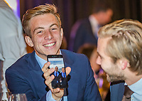 The Hague, The Netherlands, September 13, 2017,  Sportcampus , Davis Cup Netherlands - Chech Republic, Official Dinner, Tallon Griekspoor (NED)<br /> Photo: Tennisimages/Henk Koster
