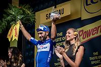 Fernando Gaviria (COL/Quick Step Floors) on the podium after winning his 2nd Tour stage<br /> <br /> Stage 4: La Baule > Sarzeau (192km)<br /> <br /> 105th Tour de France 2018<br /> ©kramon