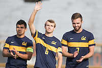 BERKELEY, CA - October 13, 2016: Christian Thierjung waves during introductions. Cal played UCLA at Edwards Stadium.