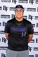 Jacob Coronado (14) of Cesar Chavez High School in Houston, Texas during the Baseball Factory All-America Pre-Season Tournament, powered by Under Armour, on January 12, 2018 at Sloan Park Complex in Mesa, Arizona.  (Mike Janes/Four Seam Images)