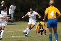 SAN ANTONIO, TX - OCTOBER 22, 2006: The McNeese State University Cowgirls vs. The University of Texas at San Antonio Roadrunners Women's Soccer at the UTSA Soccer Field. (Photo by Jeff Huehn)