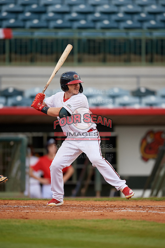 Florida Fire Frogs Zack Soria at bat during a Florida State League game against the Jupiter Hammerheads on April 8, 2019 at Osceola County Stadium in Kissimmee, Florida.  Florida defeated Jupiter 7-6 in ten innings.  (Mike Janes/Four Seam Images)