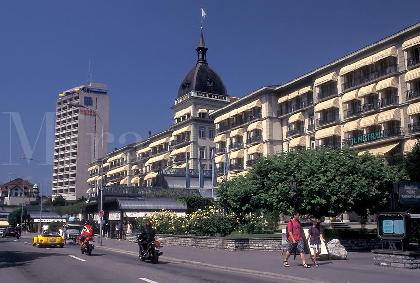hotel, Switzerland, Interlaken, Berne, Bern, Grand Hotel Victoria in the resort town of Interlaken in the Bernese Oberland.