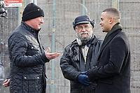 2019 02 01 John Brandler meets Ian Lewis at the Banksy garage, Port Talbot, UK