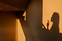 Shadows on the staircase at a commercial Building in Manila, Philippines