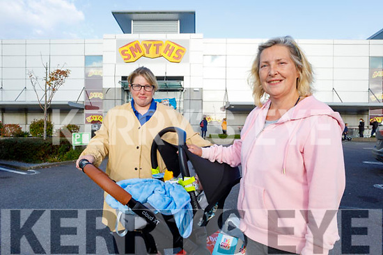 Karen O'Connor and Helen McCarthy from Farmers Bridge Tralee shopping at Smyth's Toys in Manor West Shopping Centre on Monday