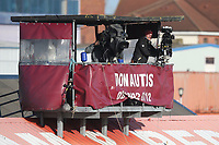 TV cameras cover the match during West Ham United Women vs Brighton & Hove Albion Women, Barclays FA Women's Super League Football at the Chigwell Construction Stadium on 15th November 2020