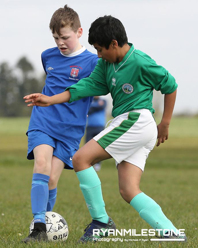 U12 Tipperary League<br /> Holycross FC vs Nenagh AFC<br /> Saturday 30th March 2019,<br /> Holycross, Tipperary.<br /> Mandatory Credit: Michael P Ryan