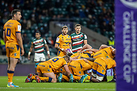 21st May 2021; Twickenham, London, England; European Rugby Challenge Cup Final, Leicester Tigers versus Montpellier; Benoit Paillaugue of Montpellier Rugby waits to put into the scrum