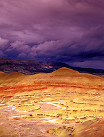 M00156M.tiff   Painted hills with storm clouds. John Day Fossil Beds National Monument, Oregon