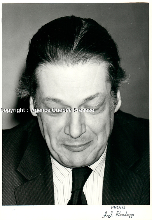 Michel Belanger, 21 Janvier 1980 <br /> <br /> PHOTO :  Agence Quebec Presse