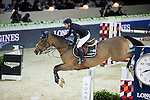 Jane Richard Philips on Foica van den Bisschop competes during Longines Speed Challenge at the Longines Masters of Hong Kong on 20 February 2016 at the Asia World Expo in Hong Kong, China. Photo by Victor Fraile / Power Sport Images