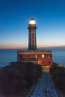 Punta Carena Lighthouse, on the westernmost cape of the Isle of Capri, Italy, stands sentinel at the entrance to the Gulf of Naples.