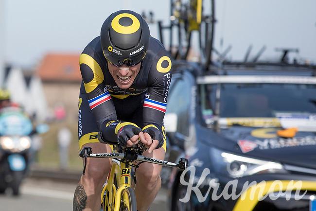 4th place GC: Sylain Chavanel (FRA/Direct Energie)<br /> <br /> 3 Days of De Panne 2017<br /> afternoon stage 3b: ITT De Panne-De Panne (14,2km)