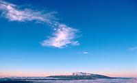 Snowcapped Mauna Kea  from Mauna Loa, Big Island