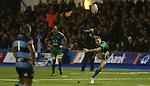 Connacht outside half Dan Parks attempts a long range penalty kick.<br /> RaboDirect Pro 12<br /> Cardiff Blues v Connacht<br /> Cardiff Arms Park<br /> 13.09.13<br /> <br /> ©Steve Pope-SPORTINGWALES