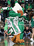 The North Texas Mean Green mascot, Scrappy, in action during the NCAA  basketball game between the South Alabama Jaguars and the University of North Texas Mean Green at the North Texas Coliseum,the Super Pit, in Denton, Texas. UNT defeated South Alabama 82 to 79...