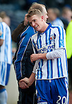 GLASGOW, SCOTLAND - JANUARY 28:  Kilmarnock scorer Dean Shiels with assistant manager Jimmy Nichol at the end of the Scottish Communities Cup Semi Final match between Ayr United and Kilmarnock at Hampden Park on January 28, 2012 in Glasgow, United Kingdom. (Photo by Rob Casey/Getty Images).