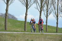 WIELRENNEN: HEERENVEEN: 13-04-2019, Healthy Ageing Tour, Anouska Koster, Lisa Brennauer, ©foto Martin de Jong