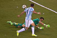 Action photo during the match Argentina vs Chile corresponding to the Final of America Cup Centenary 2016, at MetLife Stadium.<br /> <br /> Foto durante al partido Argentina vs Chile cprresponidente a la Final de la Copa America Centenario USA 2016 en el Estadio MetLife , en la foto:Gonzalo Higuain<br /> <br /> <br /> 26/06/2016/MEXSPORT/JAVIER RAMIREZ