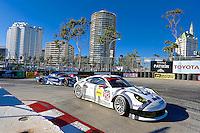 #912 Porsche of Patrick Long and Michael Christensen, Long Beach Grand Prix, Long Beach, CA, April 2014.  (Photo by Brian Cleary/ www.bcpix.com )