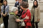 Ida Vitale receives 'XXIV Reina Sofia Iberoamerican Poetry Award' in presence of Queen Sofia of Spain. November 18, 2015. (ALTERPHOTOS/Acero)