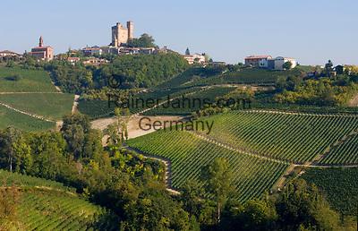 Italien, Piemont, Langhe: Weinberge und Weinort Serralunga | Italy, Piedmont, Langhe: vineyards and Serralunga
