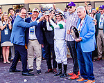 SEPT 25, 2021: Hot Rod Charlie, ridden by Flavien Prat , wins the Gr.1 Pennsylvania Derby, for 3-year olds, going 1 1/8 mile, at Parx Racing, Bensalem, PA. Sue Kawczynski/Eclipse Sportswire/CSM