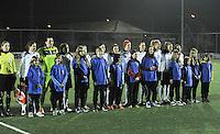 Belgium - Austria : team Austria tijdens de hymne.foto DAVID CATRY / Vrouwenteam.be