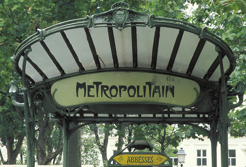 Europe, FRA, France, Paris, Metro, Subway Station Abbesses, Entrance....[ For each utilisation of my images my General Terms and Conditions are mandatory. Usage only against use message and proof. Download of my General Terms and Conditions under http://www.image-box.com or ask for sending. A clearance before usage is necessary...Material is subject to royalties. Each utilisation of my images is subject to a fee in accordance to the present valid MFM-List...Contact | archive@image-box.com | www.image-box.com ]