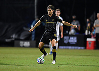 LAKE BUENA VISTA, FL - JULY 18: Dejan Jakovic #5 of LAFC with the ball during a game between Los Angeles Galaxy and Los Angeles FC at ESPN Wide World of Sports on July 18, 2020 in Lake Buena Vista, Florida.