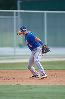 GCL Mets third baseman Kenny Hernandez (5) during practice before a game against the GCL Cardinals on July 23, 2017 at Roger Dean Stadium Complex in Jupiter, Florida.  GCL Cardinals defeated the GCL Mets 5-3.  (Mike Janes/Four Seam Images)