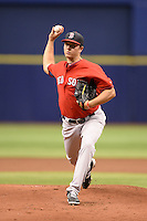 Boston Red Sox pitcher Kevin McAvoy (55) during an Instructional League game against the Tampa Bay Rays on September 25, 2014 at Tropicana Field in St. Petersburg, Florida.  (Mike Janes/Four Seam Images)