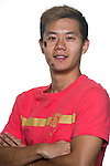 Huang Bowen of Guangzhou Evergrande poses for the official photo prior to the Guangzhou Evergrande vs Gamba Osaka match as part the AFC Champions League 2015 Semi Final 1st Leg match on September 29, 2015 at  Tianhe Sport Center in Guangzhou, China. Photo by Aitor Alcalde / Power Sport Images
