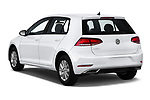 Car pictures of rear three quarter view of a 2019 Volkswagen Golf S 5 Door Hatchback angular rear