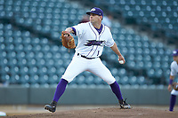 Winston-Salem Dash starting pitcher Kyle Kubat (1) in action against the Lynchburg Hillcats at BB&T Ballpark on May 3, 2018 in Winston-Salem, North Carolina. The Dash defeated the Hillcats 5-3. (Brian Westerholt/Four Seam Images)