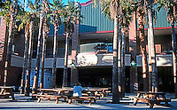 Ballparks: Phoenix, AZ. Scottsdale Stadium. Seating, snack, concession stand area behind home plate.