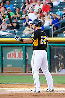 John Hester (22) of the Salt Lake Bees at bat against the Nashville Sounds in Pacific Coast League action at Smith's Ballpark on June 23, 2014 in Salt Lake City, Utah.  (Stephen Smith/Four Seam Images)