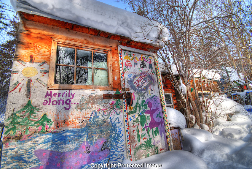 winter shack on Joliffe Island